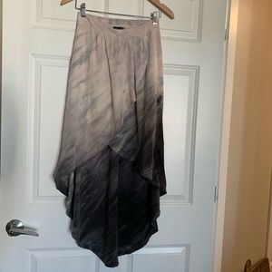 Anthropologie silk ombré tie dye high-low skirt